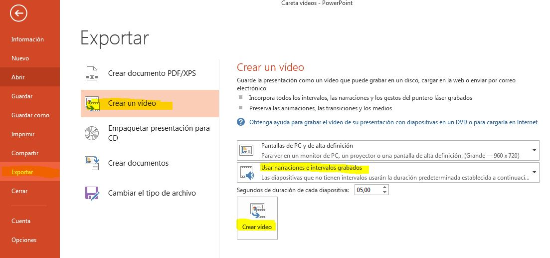 Como Convertir Un Power Point En Un Video Presentable Es