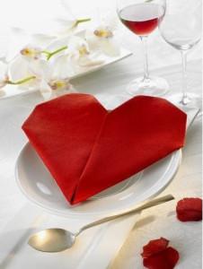 servilleta corazon